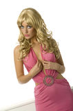 De Bom van de blonde Stock Foto's