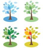 De bomen D van seizoenen Royalty-vrije Stock Afbeeldingen