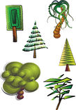 De bomen van Clipart Royalty-vrije Stock Foto