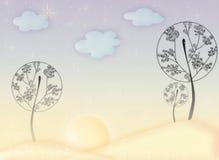 De bomen van de fee royalty-vrije stock afbeeldingen