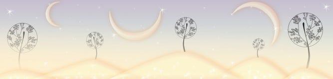 De bomen van de fee stock afbeelding