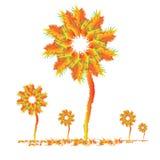De Bomen van de gradiënt vector illustratie