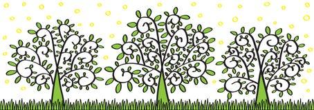 De Bomen van de lente stock illustratie