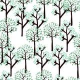 De bomen van de winter vector illustratie