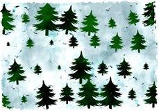 De bomen van Grunge vector illustratie