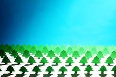De bomen van het document tegen valse hemel Stock Foto