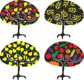 De bomen van het landbouwbedrijf in vector Stock Fotografie