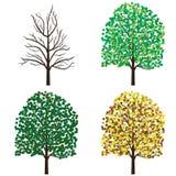 De bomen van het seizoen. Royalty-vrije Stock Foto's