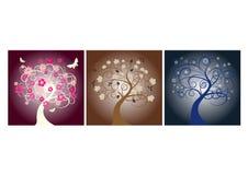 De bomen van het seizoen vector illustratie