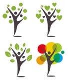 De bomen van Humanoid van het embleem vector illustratie