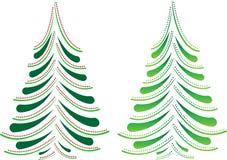 De bomen van Kerstmis stock illustratie