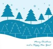 De bomenachtergrond van de winter vector illustratie
