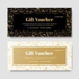De bon van de giftpremie, couponmalplaatje Royalty-vrije Stock Fotografie
