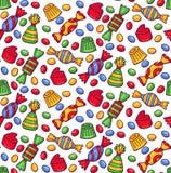 De bonbon naadloos vectorpatroon van suikergoedsnoepjes vector illustratie