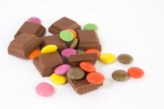 De bonen van de chocolade Stock Afbeeldingen