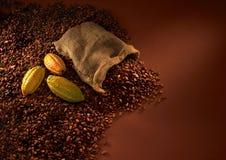 De bonen van de chocolade Royalty-vrije Stock Foto