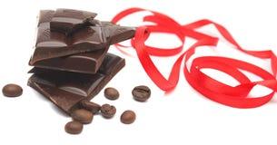 De bonen van de chocolade en van de koffie. Royalty-vrije Stock Afbeelding