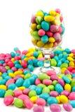 De bonen van de kleur candie in glas Stock Afbeelding