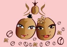 De bonen van de koffie vector illustratie