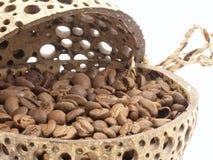 De bonen van de koffie. Stock Foto's