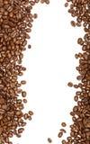 De Bonen van de koffie die op witte achtergrond worden geïsoleerde Stock Foto