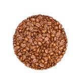 De Bonen van de koffie die op witte achtergrond worden geïsoleerde Royalty-vrije Stock Foto's