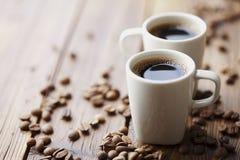 De bonen van de koffie en koffie Stock Afbeeldingen