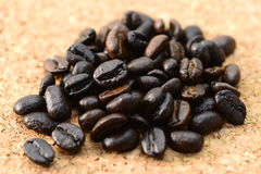 De bonen van de koffie sluiten omhoog Royalty-vrije Stock Afbeelding