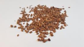 De bonen van de koffie op lijst Royalty-vrije Stock Foto