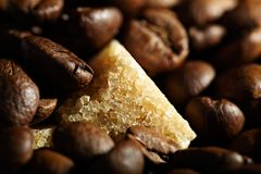 De bonenachtergrond van de koffie Royalty-vrije Stock Foto