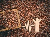 De bonenachtergrond van de koffie Stock Foto