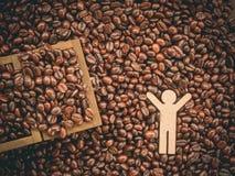 De bonenachtergrond van de koffie Royalty-vrije Stock Foto's