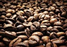 De bonenclose-up van de koffie Stock Foto's