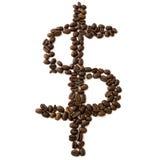 De bonendollar van de koffie Royalty-vrije Stock Fotografie