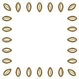 De bonenFrame van de koffie De moderne kaart van de winkelbevordering met lege plaats voor uw zoete ontwerptekst, woorden, koffie vector illustratie