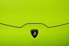 De bonnet van Lamborghini Huracà ¡ n LP 610-4 royalty-vrije stock foto's