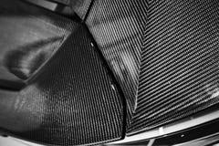 De bonnet van de luxeauto van koolstofvezel die wordt gemaakt royalty-vrije stock afbeeldingen