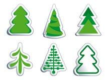 De bont-bomen van Kerstmis Stock Afbeelding