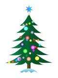 De bont-boom van Kerstmis Stock Afbeeldingen