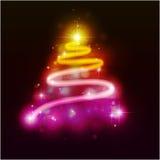De bont-boom van Kerstmis. Stock Afbeelding