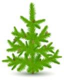 De bont-boom van Kerstmis op wit Stock Afbeelding