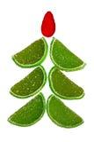De bont-boom van Kerstmis van fruitsuikergoed royalty-vrije stock foto