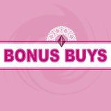De bonus koopt Logo Pink Background Royalty-vrije Stock Fotografie