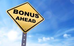 De bonus ondertekent vooruit royalty-vrije illustratie