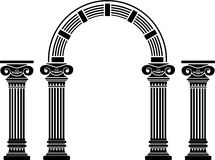 De boog en de kolommen van de fantasie royalty-vrije stock fotografie