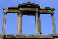 De boog en de kolommen van de stadspoort Stock Fotografie