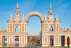 De boog in Tsaritsyno, Moskou Royalty-vrije Stock Foto's