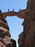 De Boog van Burdah in de Rum van de Wadi, Jordanië. Royalty-vrije Stock Fotografie