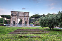 De Boog van Constantine in Rome, Italië stock afbeelding