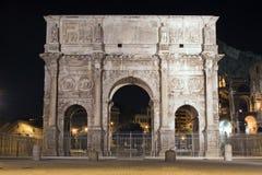De boog van Cosntantine, Rome, Italië Stock Foto